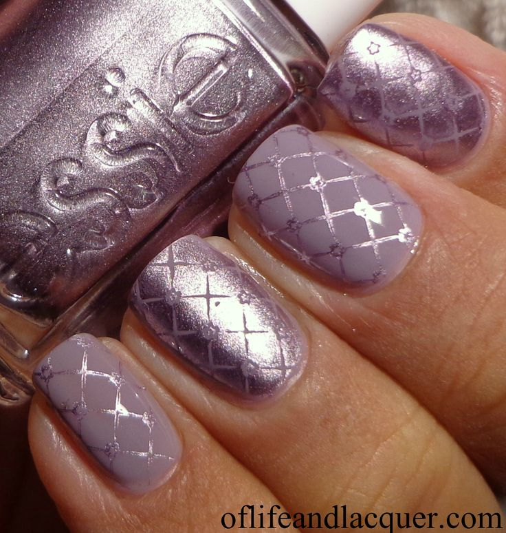 Pinned by www.SimpleNailArtTips.com STAMPING NAIL ART DESIGN IDEAS -   Essie Nothing Else Metals BM 310
