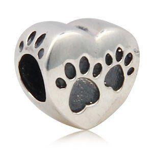 "Pro Jewelry .925 Sterling Silver ""Paws on Heart"" Charm Bead for Snake Chain Charm Bracelets 2588 Pro Jewelry http://www.amazon.com/dp/B00BQKQKHU/ref=cm_sw_r_pi_dp_Mal9tb1EGAHWY"