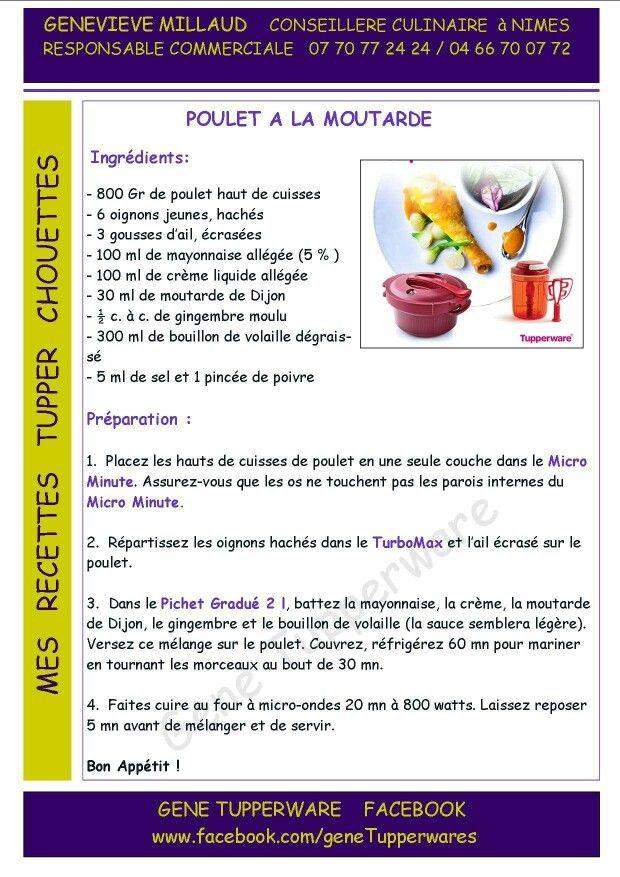 Plat - Poulet à la moutarde - Tupperware