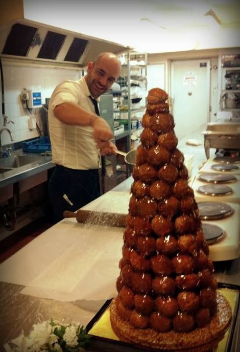 Pastry King Adriano Zumbo in the Eschol Park House Kitchen creating an absolute Masterpiece