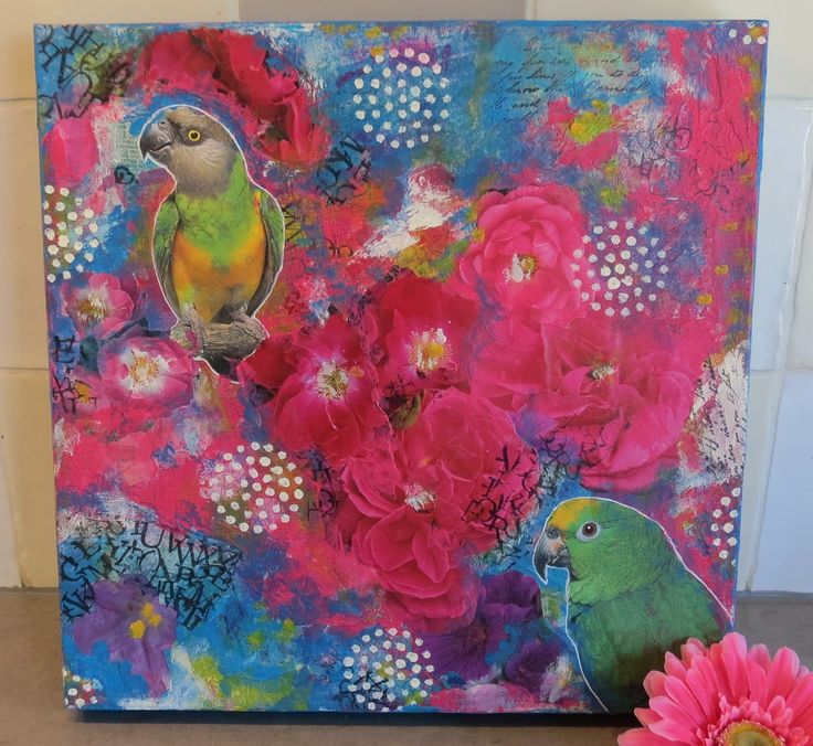Exotic colors. Collage, paint & more