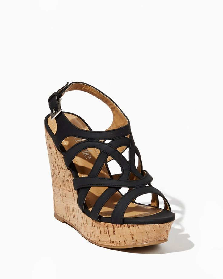 charming charlie | Naya Strappy Cork Wedges | UPC: 400000469461 #charmingcharlie
