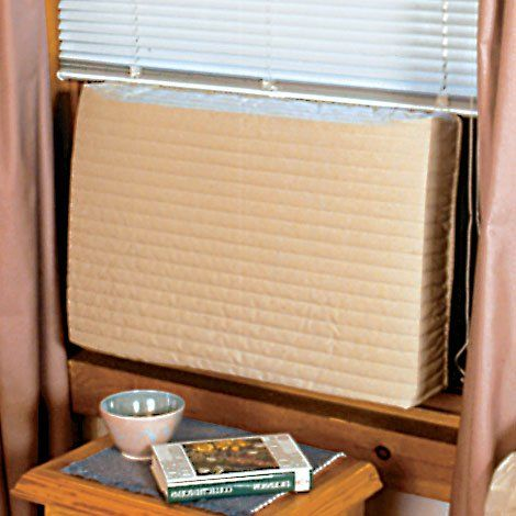 Endraft Large Air Conditioner Cover  Studies show that it's best to cover window air conditioners from the inside, which prevents rust and corrosion on the outside; lengthening the life of the unit. Endraft Air Conditioner Covers are guaranteed to block wind and cold air while and keeping your home free from dirt, soot and allergens. Quilted cover with extra layer liner and elastic sides ensures complete insulation for warmth and energy efficiency. Endust Air Conditioner Cover instal..
