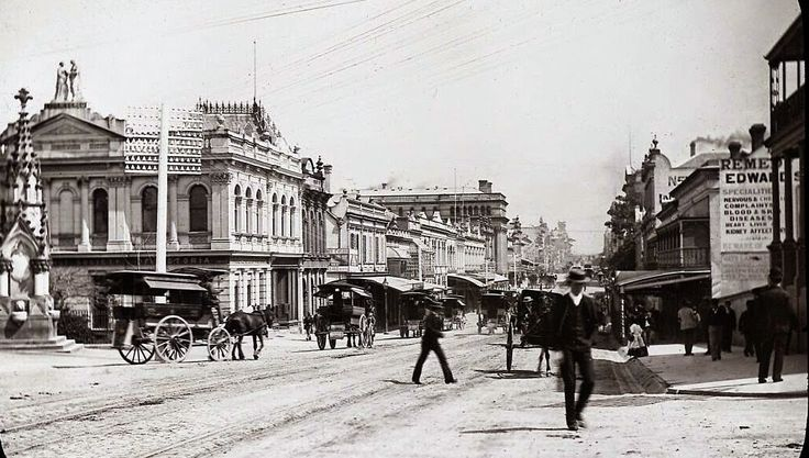 Queen St., Brisbane late 1800's.