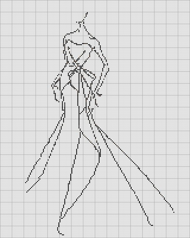 Free Cross Stitch Fashion Sketch chart 1 | Sew Simple Dress