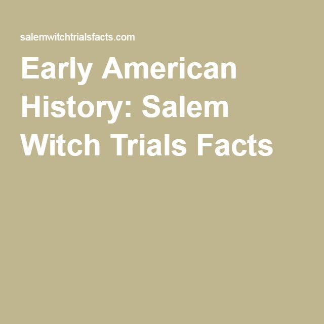 an analysis of the history of salem witch trials The accusations, the trials, the executions, and the events leading up to and after the deaths, kept salem, massachusetts on its toes in this mass paranoia we will write a custom essay sample on salem witch trials.