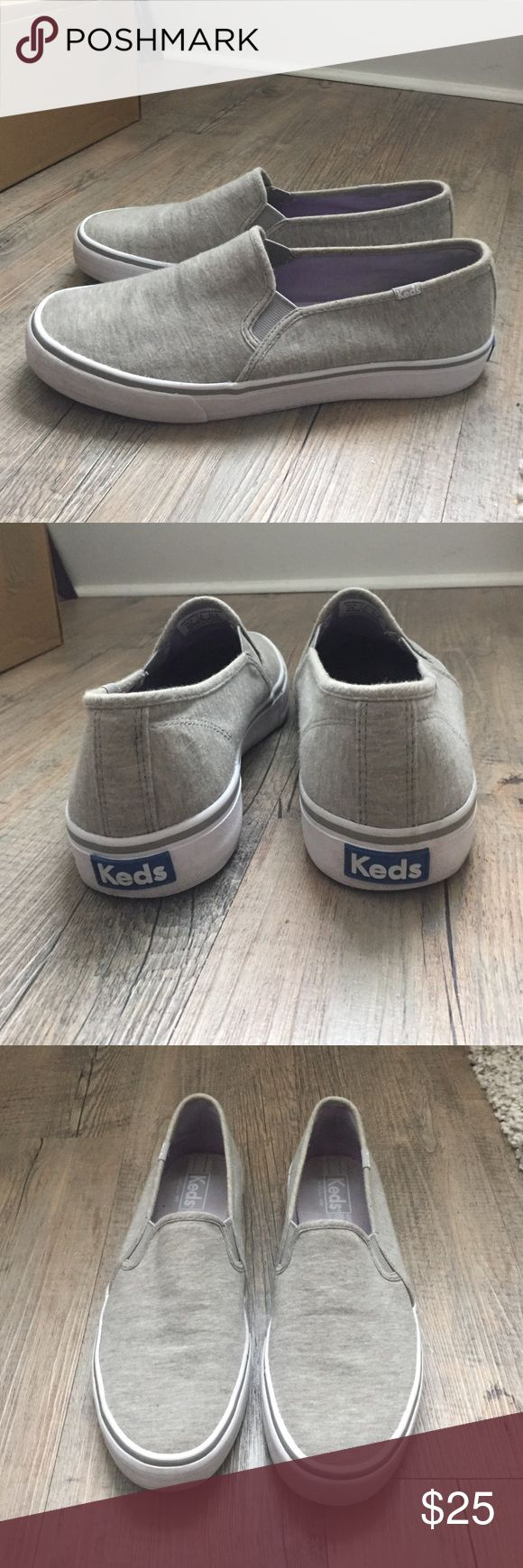 Keds Double Decker Jersey Women's Slip On Sneakers Cute slip on sneakers! Only worn a few times. Keds Shoes Sneakers
