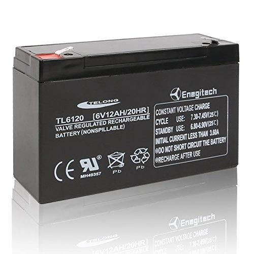 Batteriol 6V 12AH Sealed Lead Acid Replacement Battery for Modified Powerwheels Batman Batmobile Toy Car BP10-6 ES12-6 Battery (F2 Terminal)