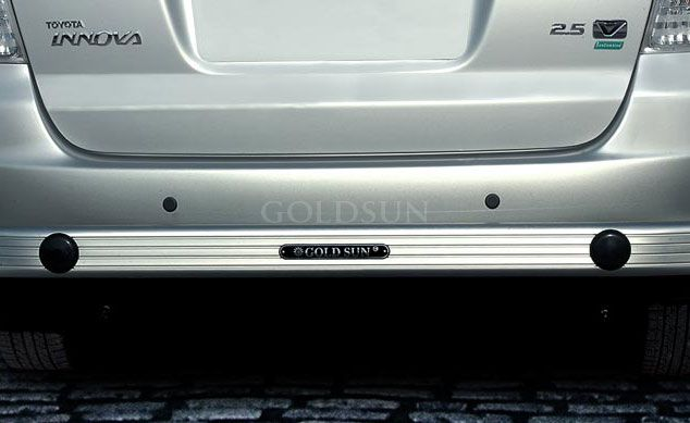 GoldSun-Design:  with 3 inch long number plate Rear Guard for Tata INDICA VISTA