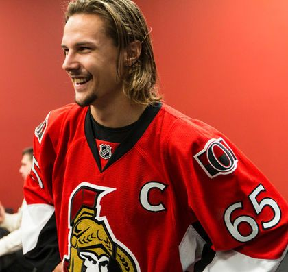 Ottawa Senators' new captain Erik Karlsson.
