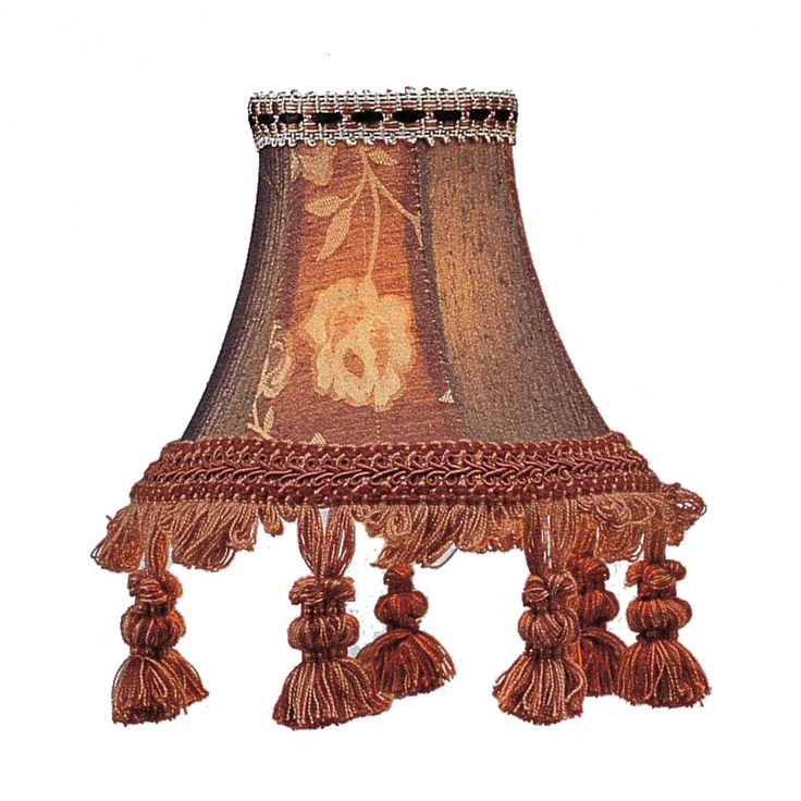 Burgundy Fl Bell Clip Chandelier Shade With Tassels Livex Shades