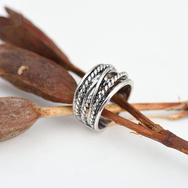 Silver Rope Bohemian Ring | Bohemian | Gypsy | Indie | Hippie Style