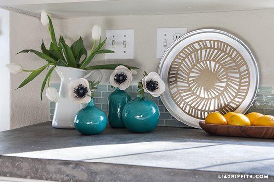 Kitchen countertop styling.