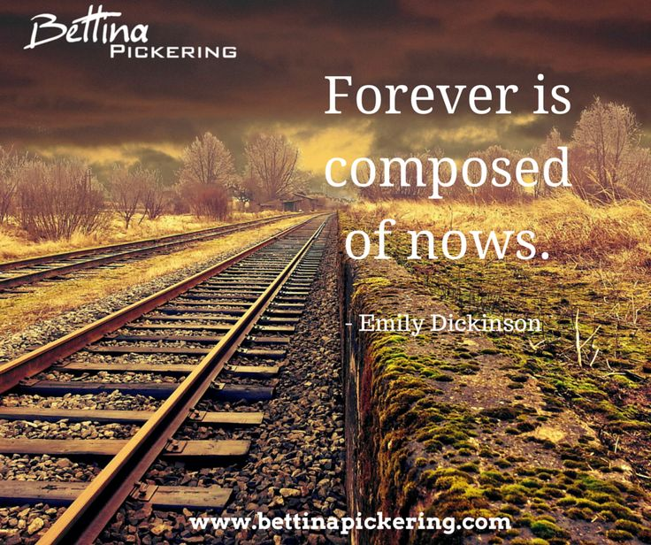 Forever is composed of nows. - Emily Dickinson #presence #purpose #quote