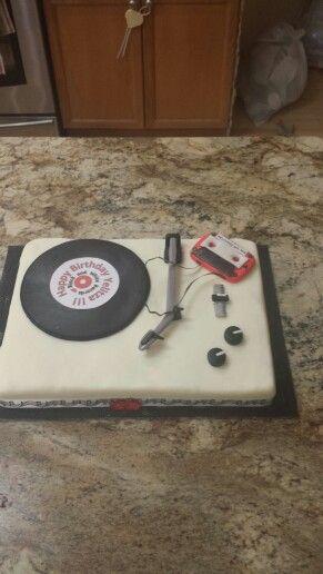 Black and white 80's cake
