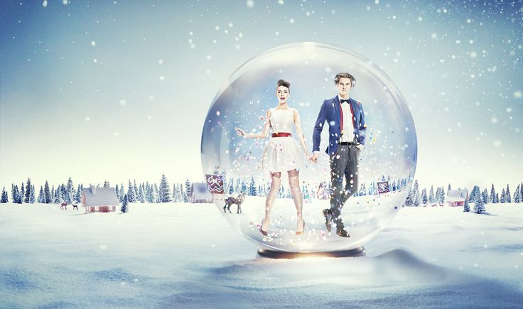 Christmas campaign for Złote Tarasy, shopping mall in Warsaw.