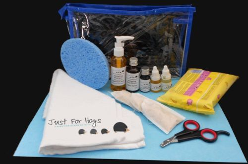 Just For Hogs African Pygmy Hedgehog Bathing and Wellness Pack - Blue | eBay