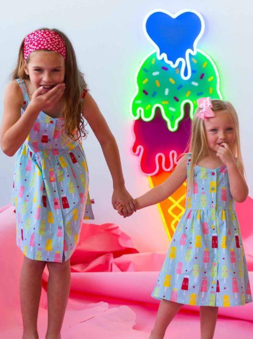 Ruby Frosty Blue Princess Ice Cream Dress