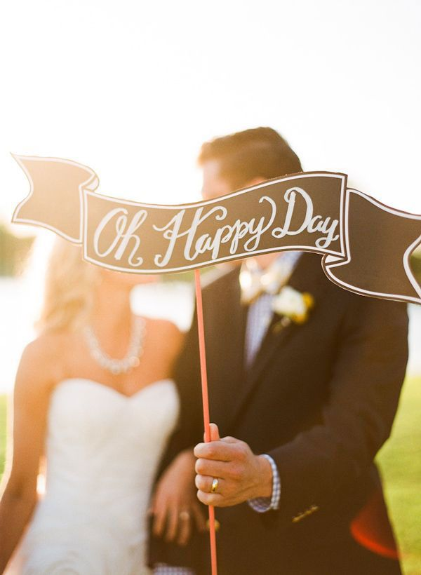 This cute wedding sign sums it up perfectly!