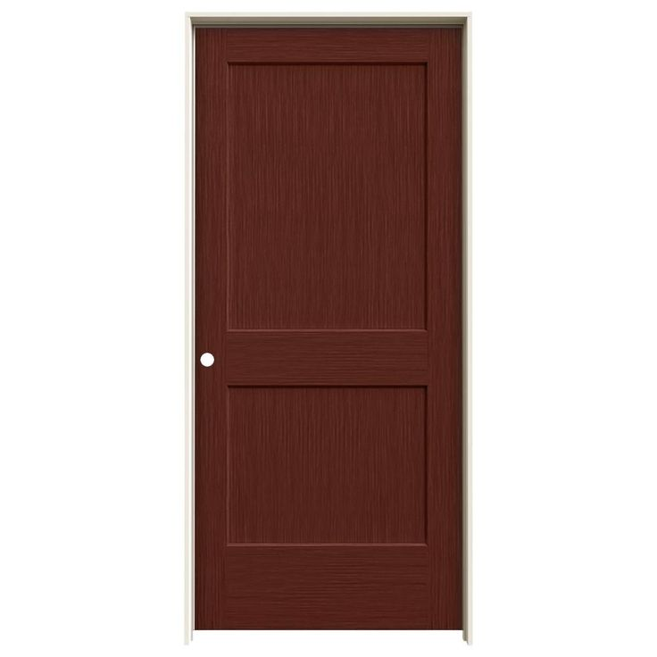 JELD-WEN 37.563 in. x 81.688 in. Statement Black Cherry Left-Hand Monroe Solid Core Composite Single Prehung Interior Door