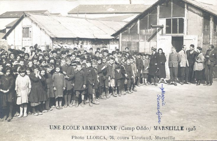 Camp Oddo, Marseille, 1925. Many Armenian Genocide survivors came to Marseille. Maral Pegorian's parents met in this refugee camp.