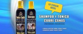 Shampoo y tónico capilar cubre canas herbacol