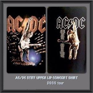 ACDC VINTAGE Stiff Upper Lip 2000 Concert Shirt XL  Mint Condition Original  | eBay