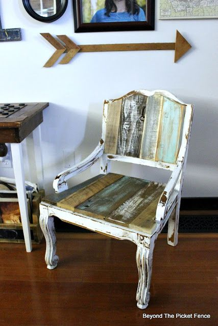 Beyond The Picket Fence: Wood Upholstered Chair
