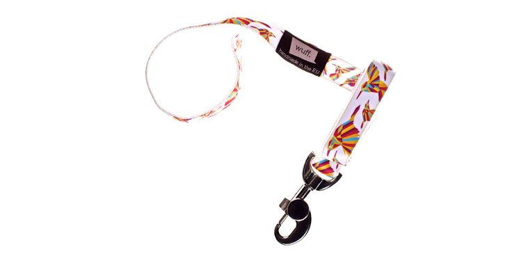 Hummingbird Dog Leash White.. The Hummingbird is beautiful, colourful and dynamic; we recommend this pattern for truly active dogs. http://www.wuffcollars.com/en/item/Hummingbird_Leash-113 Item Code: 113