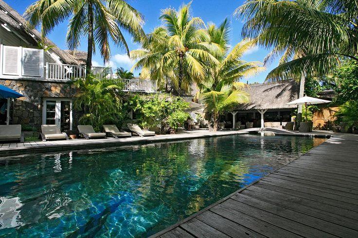 At Relais & Châteaux 20° Sud Boutique-hôtel, Pointe aux Canonniers, Mauritius. #SwimmingPool #RelaisChateaux #Mauritius