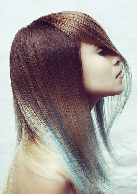 I've never seen hair colored like this!! Super cool!