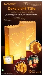 Luminaria Deko-Licht-Tüten Liebe 10 Stück (myToys)