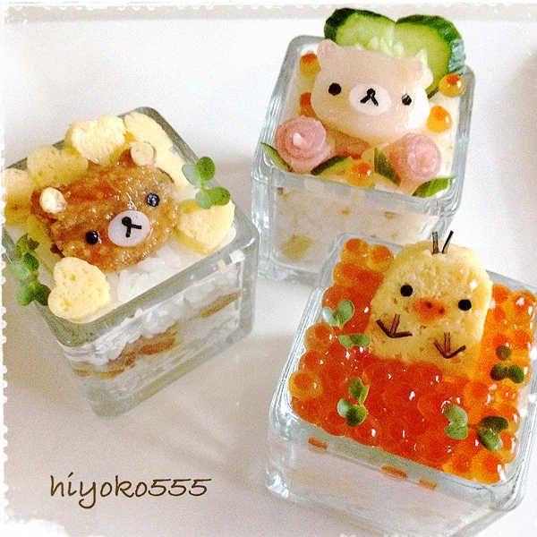 ミニミニお寿司 三種類。※