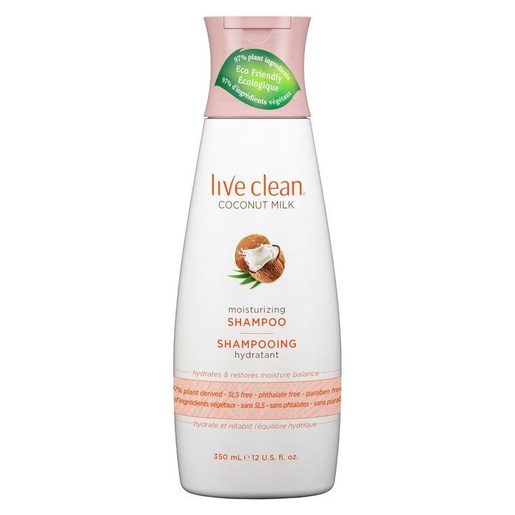 Live Clean Coconut Milk Moisturizing Shampoo - 12 oz