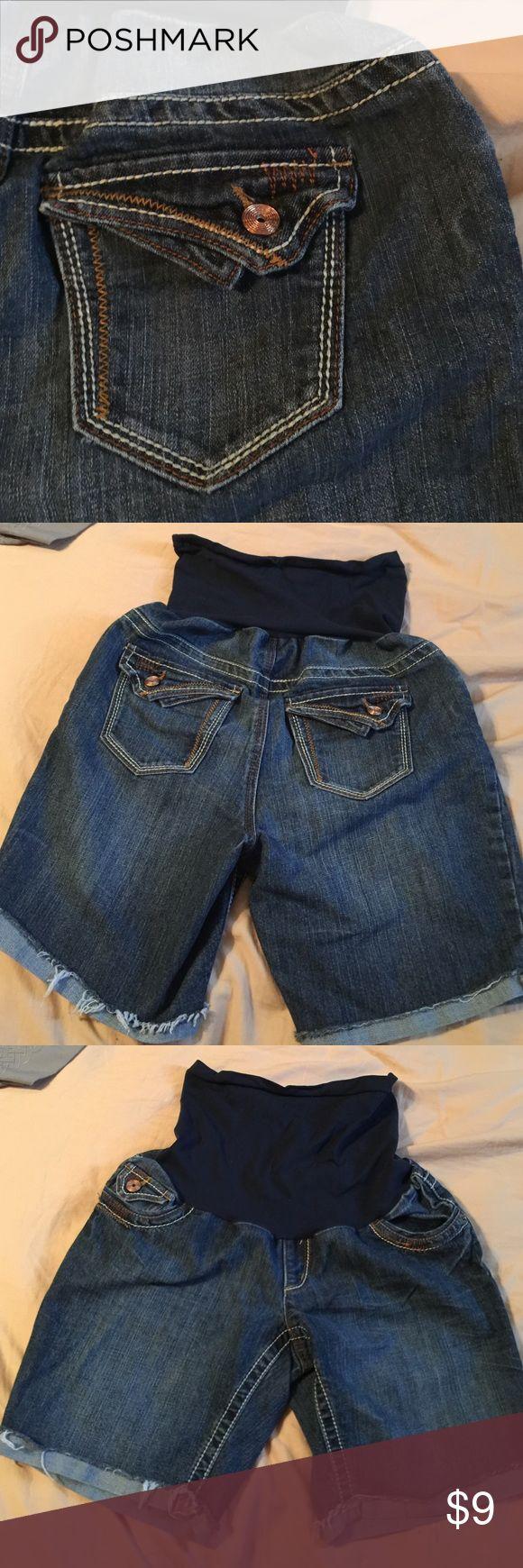 Maternity Blue Jean Shorts. Dollhouse: Maternity Blue Jean Shorts! Size Medium. Dollhouse Shorts Jean Shorts