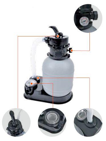 pompe de filtration a sable pour piscine 45x30x40 cm au. Black Bedroom Furniture Sets. Home Design Ideas