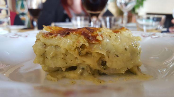 Lasagne zucchine e gamberi