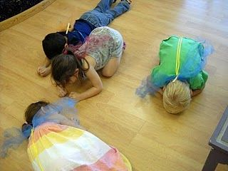 Butterfly life cycle game. Start as an egg, crawl out as a caterpillar, wrap up in a cocoon, emerge as a butterfly. :)