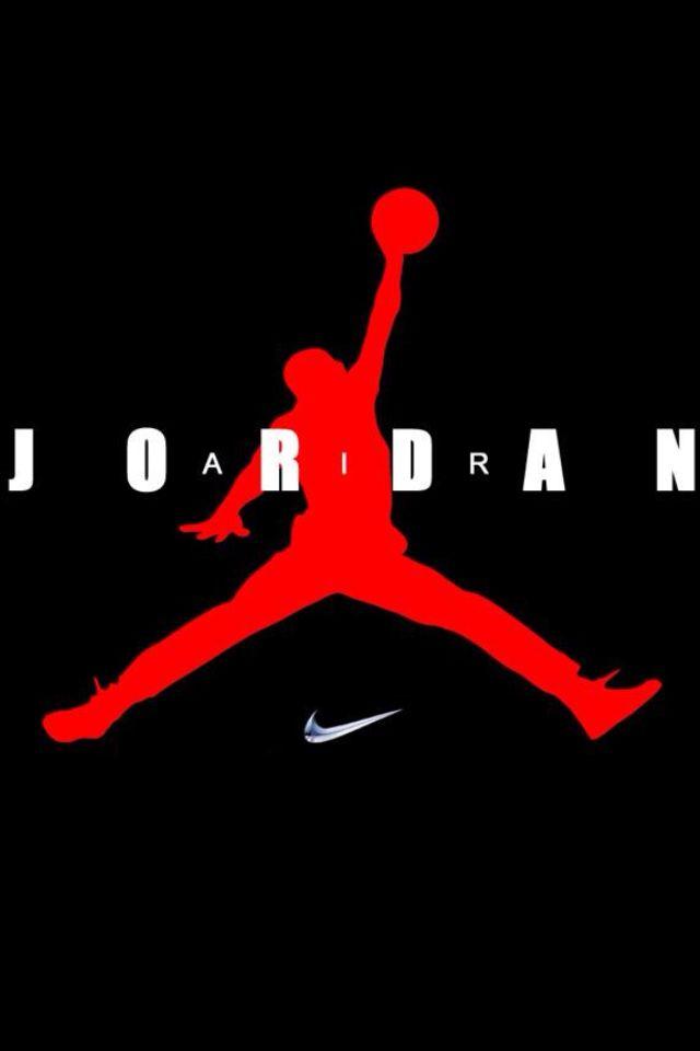 Nike Jordan Logo | Air Jordan Nike Logo download wallpaper for iPhone