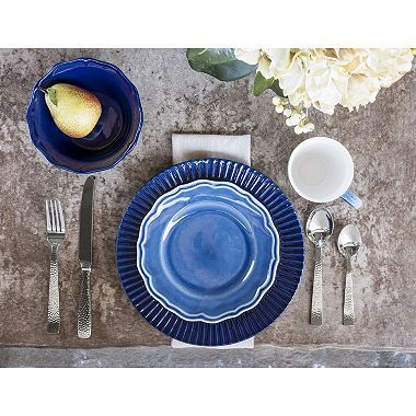 16-Piece Transitional Dinnerware Set (Assorted Colors)