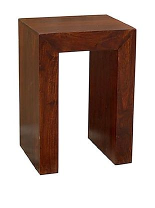 CDI Cubique Side Table, Dark Wood