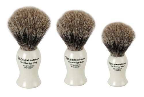 Taylor of Old Bond St Pure Badger Brush, Ivory, Medium