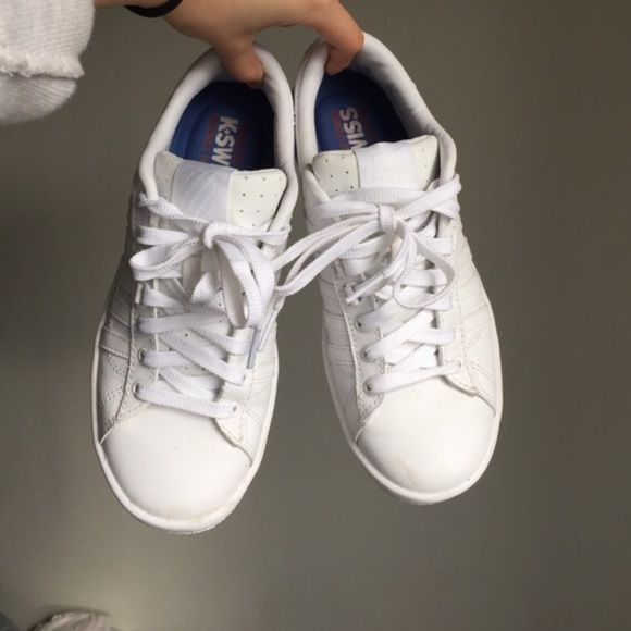 All White Sneakers Quite similar to the Adidas Superstar Originals or the Adidas Stan Smiths. All white, worn only a few times. Almost like new! (NOT ADIDAS) Adidas Shoes Sneakers