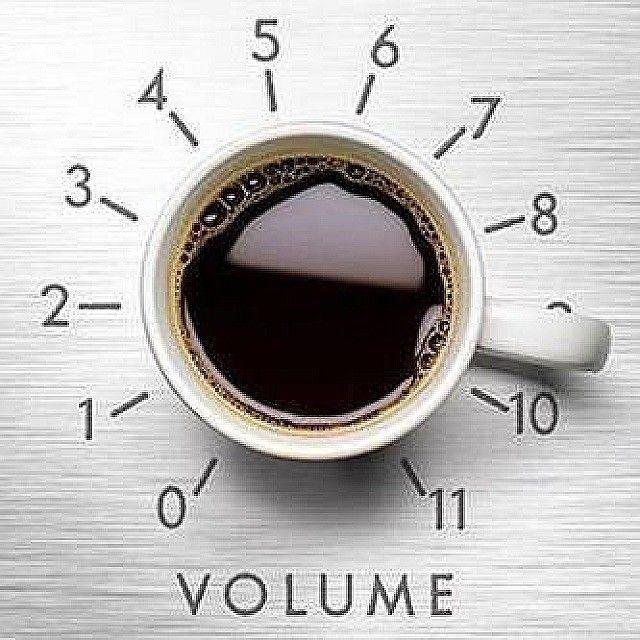 Pump up the volume!   #coffee