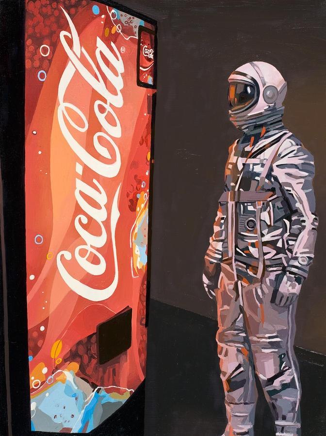 The Coke Machine Painting  - The Coke Machine Fine Art Print