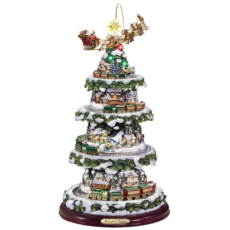 The Thomas Kinkade Animated Christmas Tree - Hammacher Schlemmer repin by #dazehub #daze #DazeTechCraze