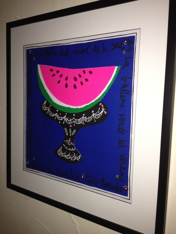 """Oda a la sandía por Pablo Neruda 