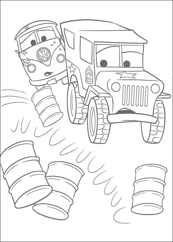 Cars Ausmalbilder 2