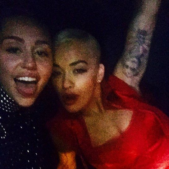 Pin for Later: Celebrity Instagrams Are Your Ticket Inside the Met Gala Miley Cyrus and Rita Ora