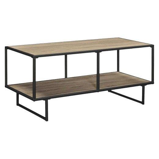Emmett 42 TV Stand/Coffee Table with Metal Frame - Sonoma Oak/Gunmetal Gray - Ameriwood Home : Target